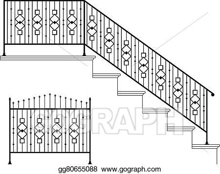 Staircase clipart stair rail. Stairs x free clip