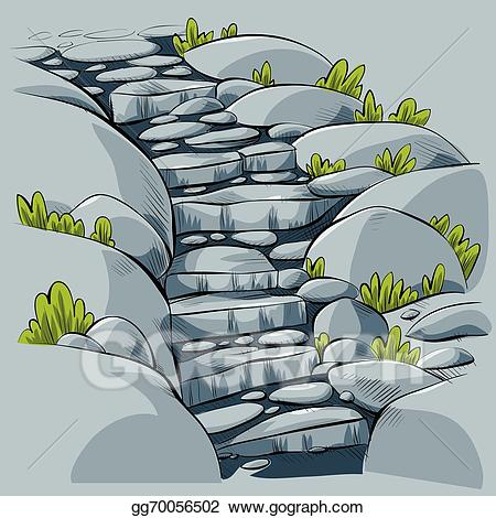 Vector illustration steps stock. Staircase clipart stone stair