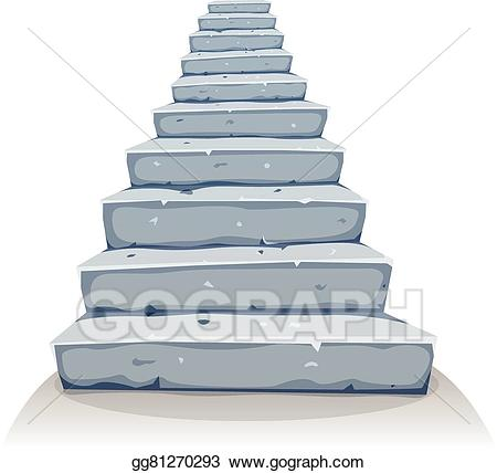 Staircase clipart stone stair. Vector cartoon stairs illustration