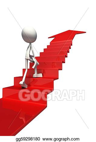 Stock illustration d to. Staircase clipart success