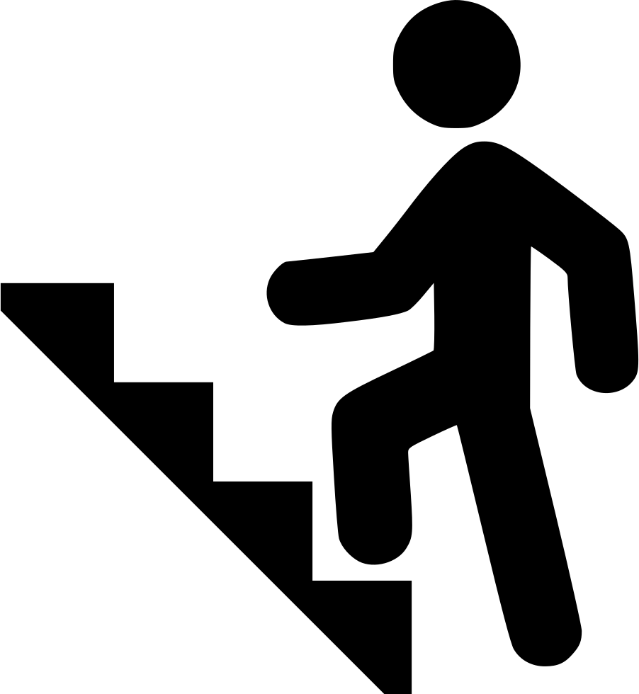 Climbing stairs svg png. Staircase clipart symbol