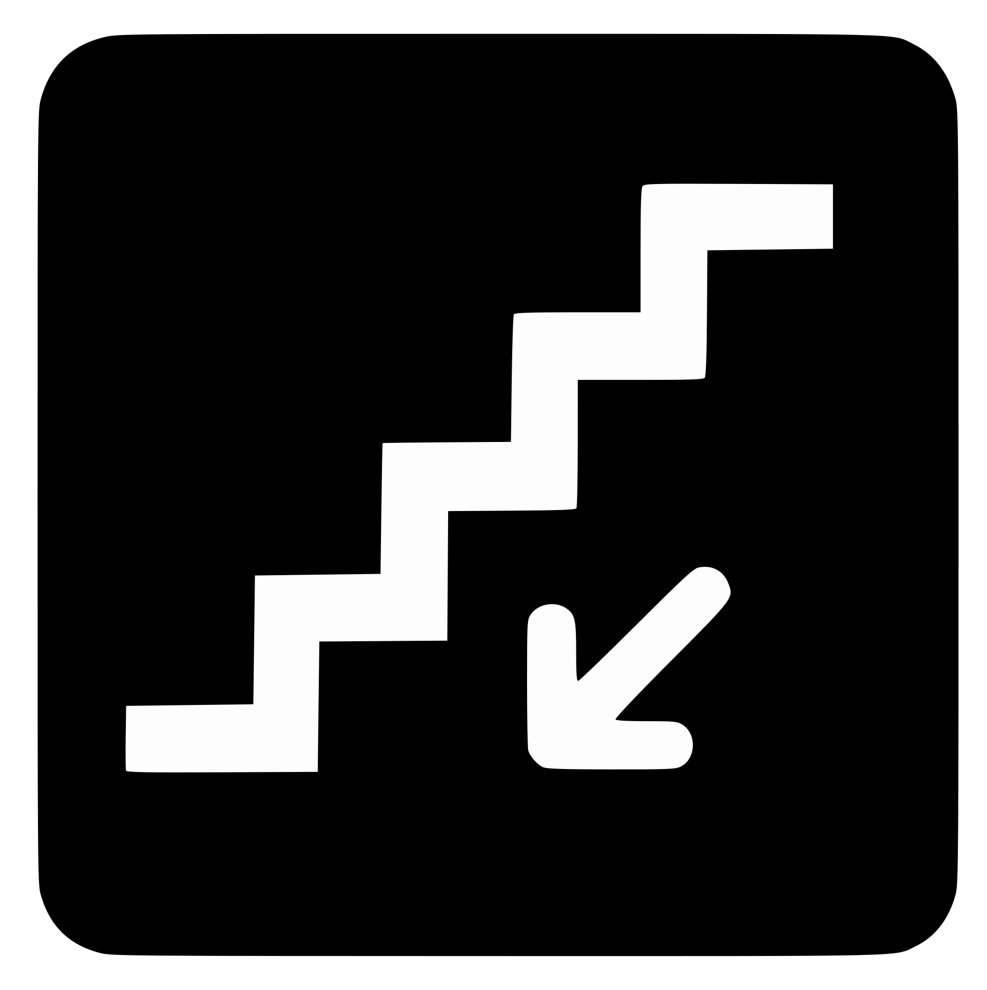 Staircase clipart symbol. File aiga stairs down