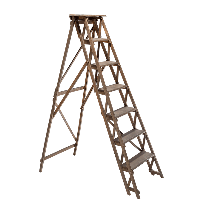Staircase clipart tangga. Wooden ladder png domestic