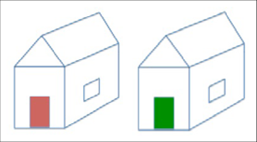 Two houses picture comparison. Staircase clipart upstairs downstairs