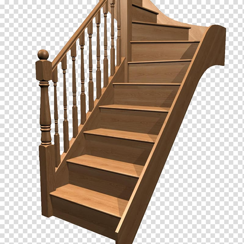 Brown stairs hardwood riser. Staircase clipart wooden stair