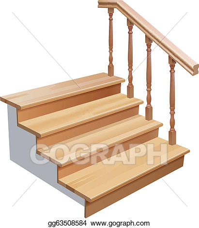 Clip art vector stairs. Staircase clipart wooden stair