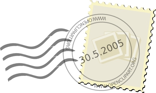 Postage clip art free. Stamp clipart