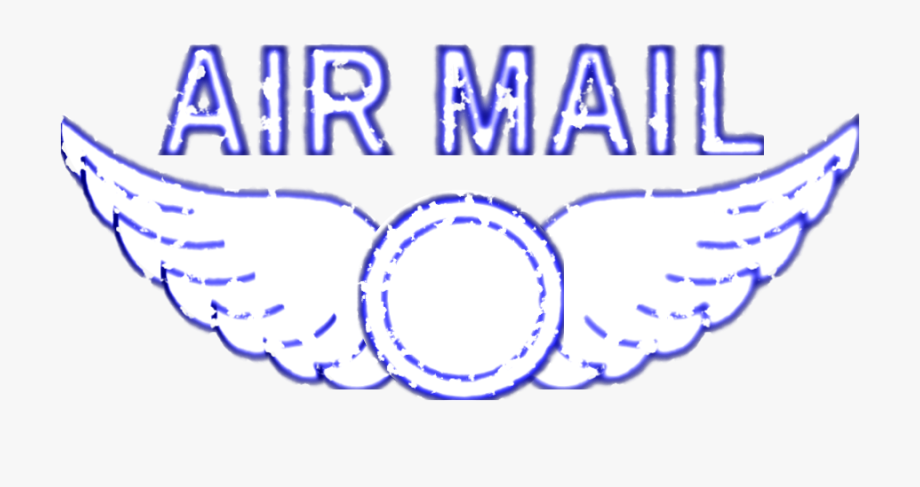 Vintage air mail rubber. Stamp clipart airmail