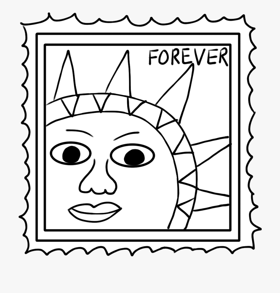 Clip art free . Stamp clipart black and white