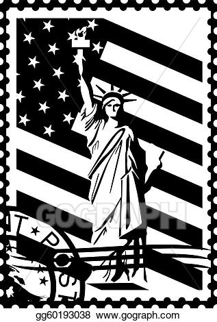 Eps vector postage with. Stamp clipart black and white