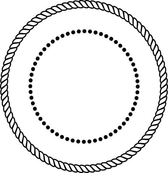Black rope clip art. Stamp clipart circle