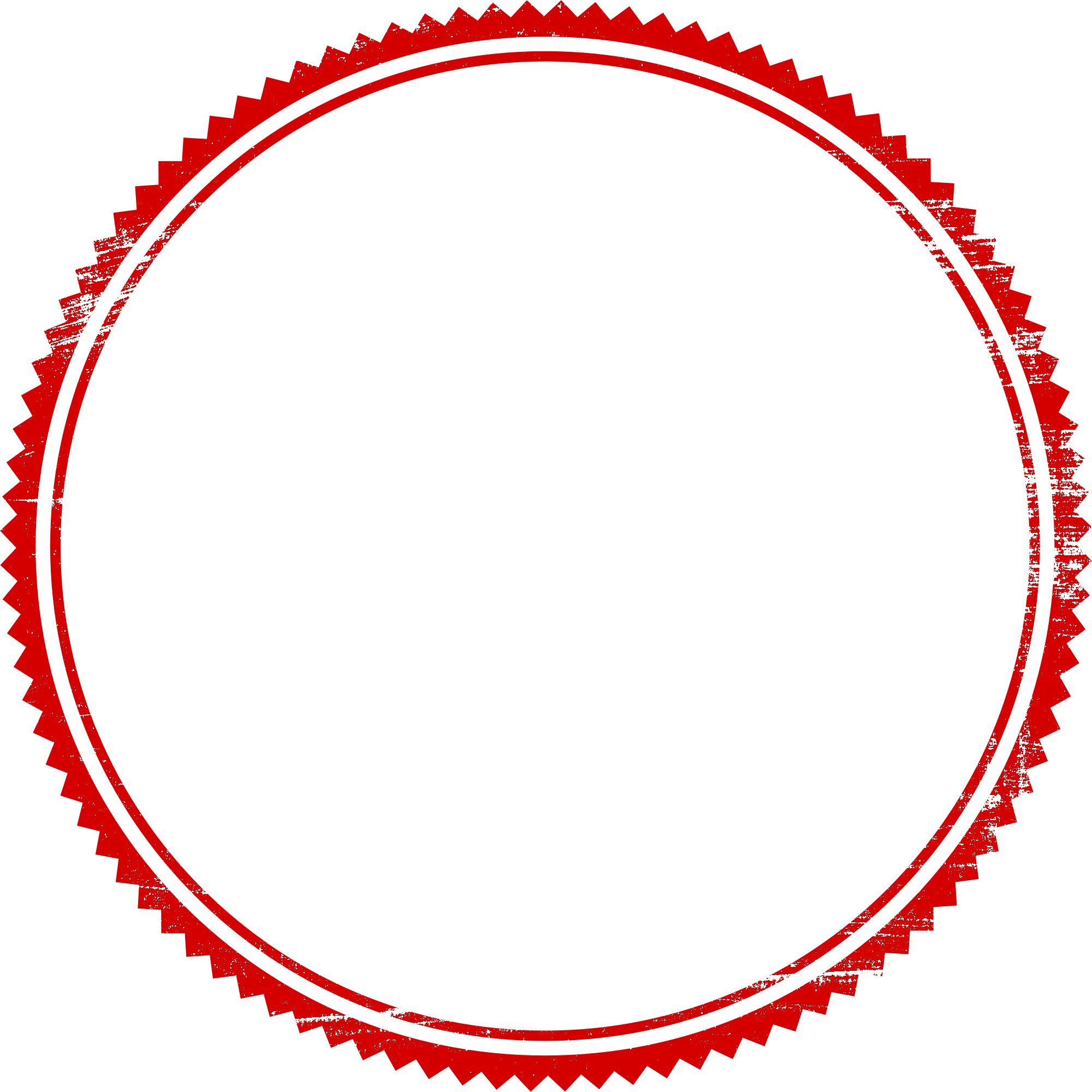 red empty vector. Stamp clipart circle