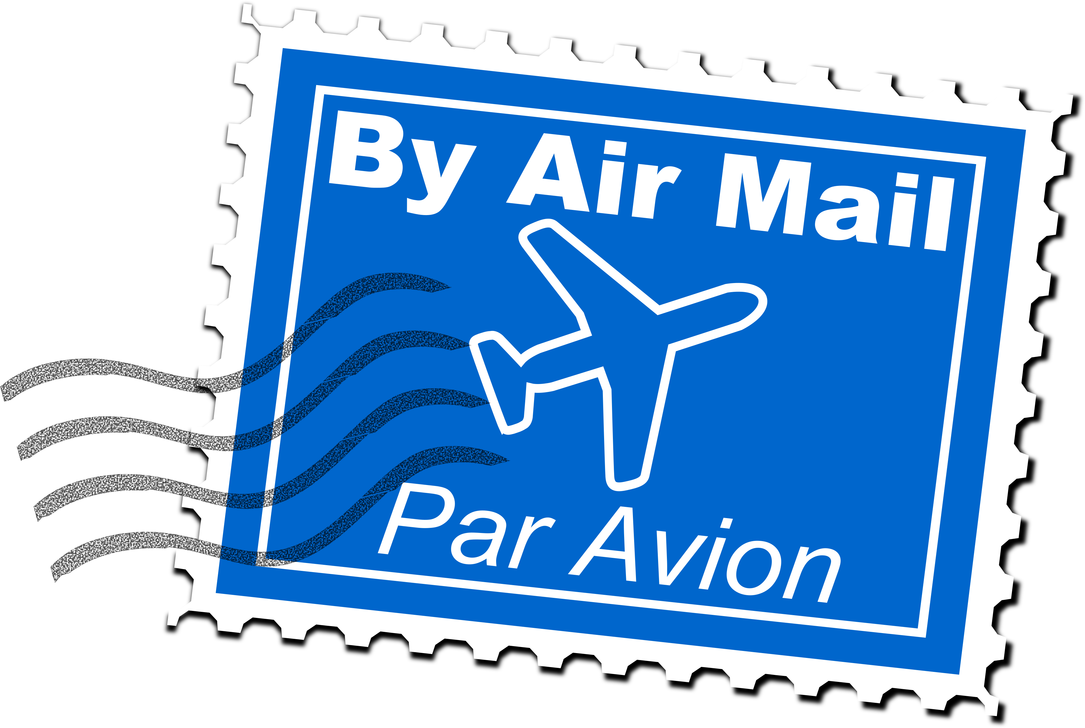 Air mail postage big. Stamp clipart clip art