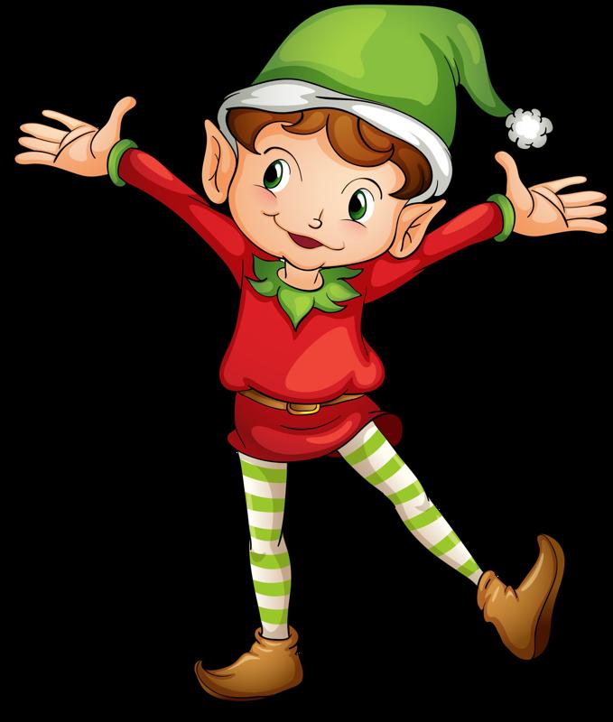 Stamp clipart elf.  elves noche de