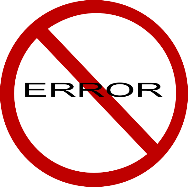 Error group no sign. Stamp clipart failure