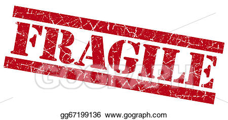 Drawing red grunge . Stamp clipart fragile