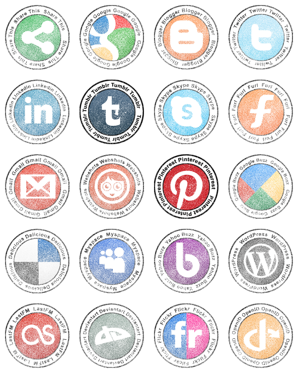 Stamp clipart icon. Social network v free