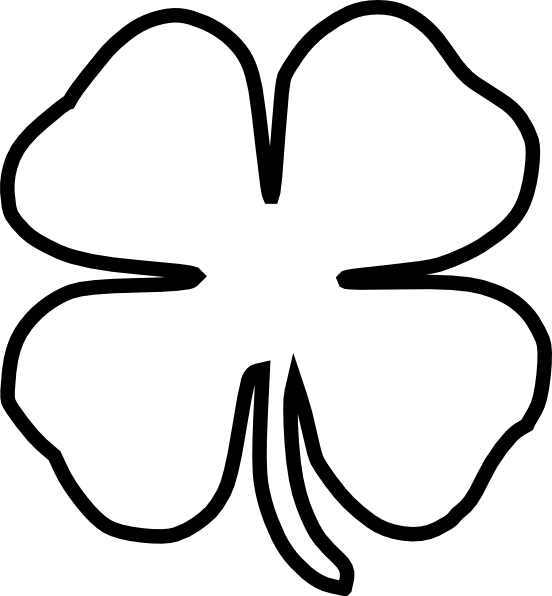 Stamp clipart library. Plain shamrock digital outline