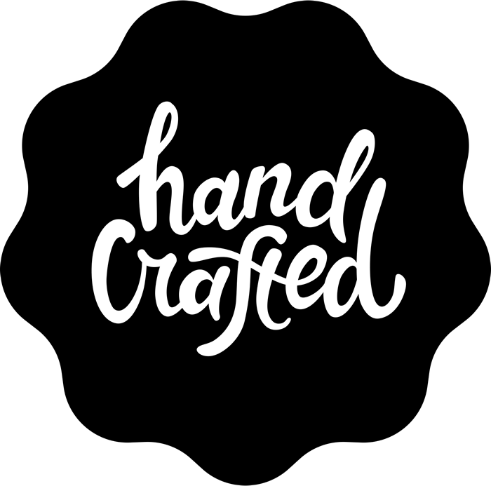 Hand crafted in calligraphy. Stamp clipart line art