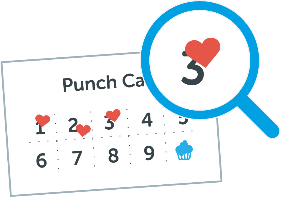 Punch card muck greenidesign. Stamp clipart manager