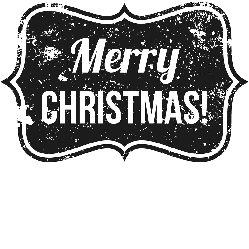 Stamp clipart merry christmas. Distressed badge rubber stamptopia
