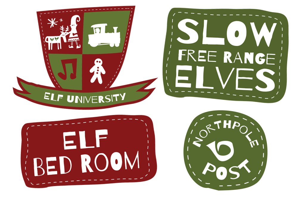Stamp clipart north pole. The green man studio