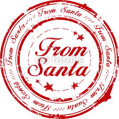 Stamp clipart official. Santa claus seal vector