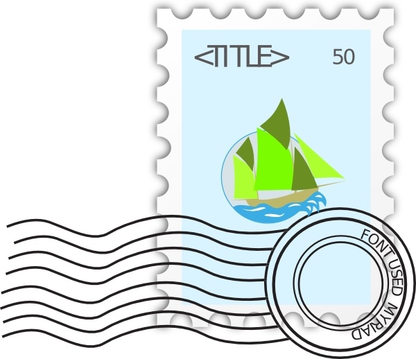 Stamp clipart postage stamp. Clip art free vector
