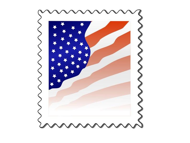 Stamp clipart postage stamp. Postal svg png art
