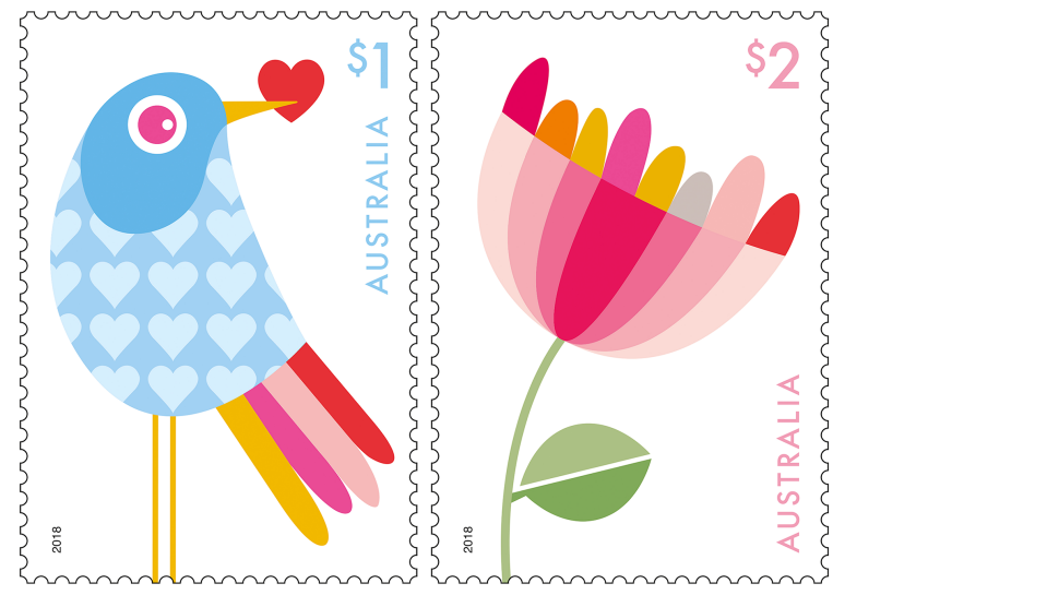 With love australia post. Stamp clipart printing