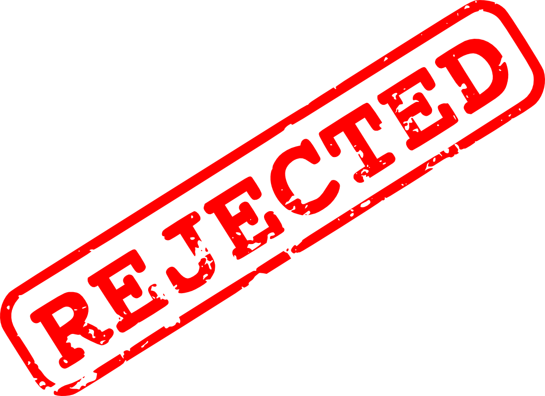 Rejected png transparent images. Stamp clipart rejection