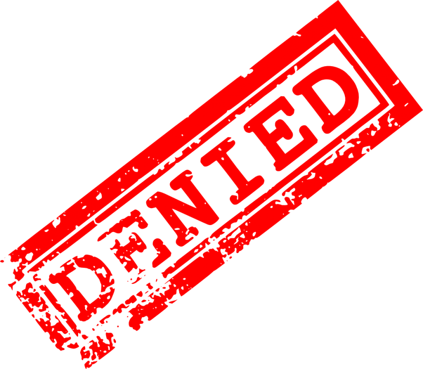 Stamp clipart rejection. Red denied png free