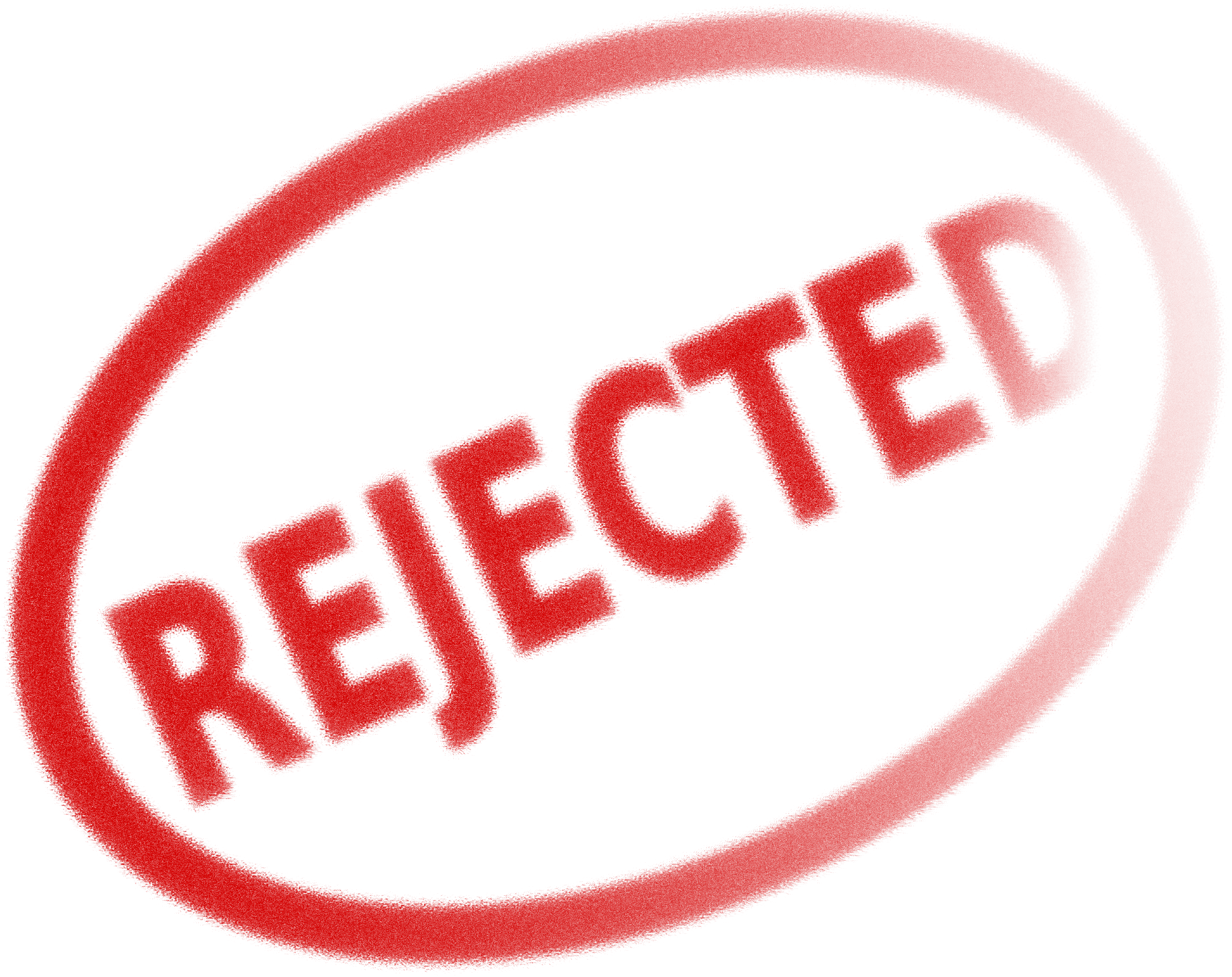 Stamp clipart rejection. Rejected big image png