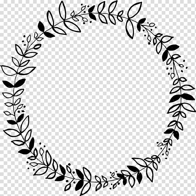 Black floral border marriage. Stamp clipart round