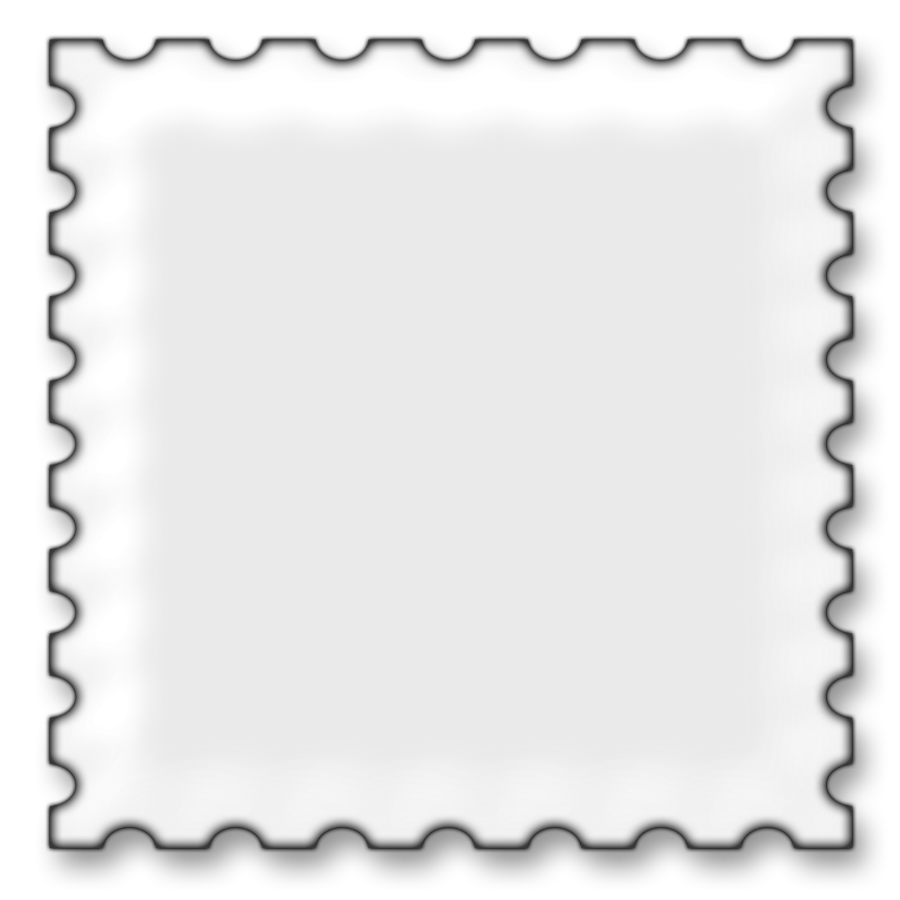 Postage picture frame clip. Stamp clipart square
