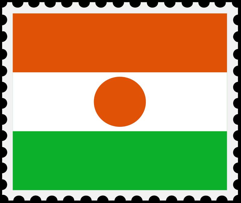 Stamp clipart square. Niger flag medium image