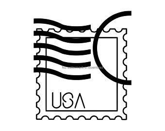 Postage etsy . Stamp clipart svg