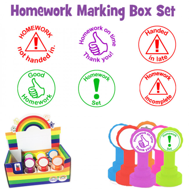 Stamp clipart teacher stamp. Homework box set
