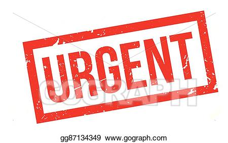 Stamp clipart urgent. Eps vector rubber stock