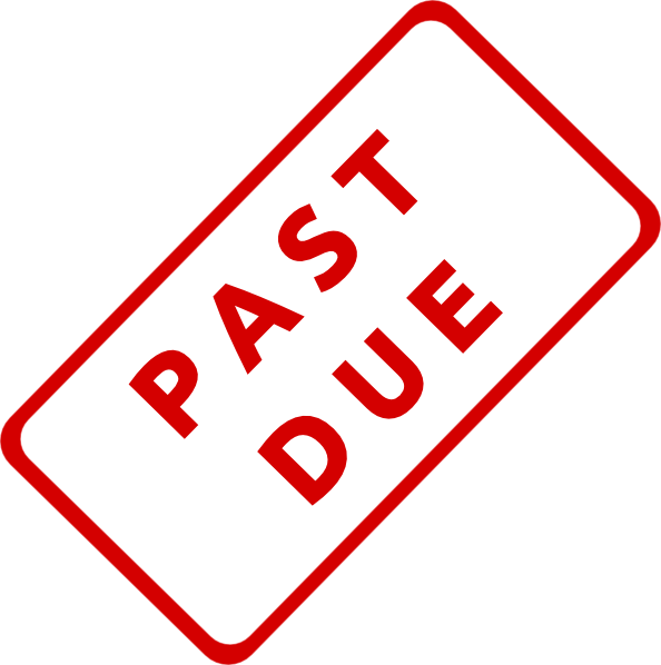 Stamp clipart urgent. Past due clip art