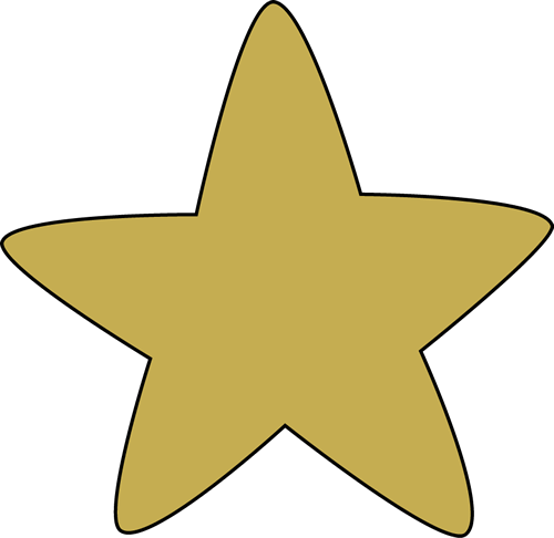 Star clip art. Images gold rounded