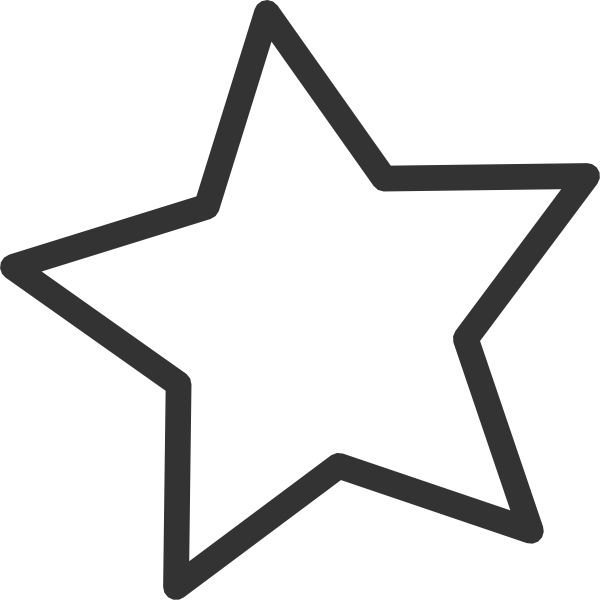 Star clip art. White at clker com