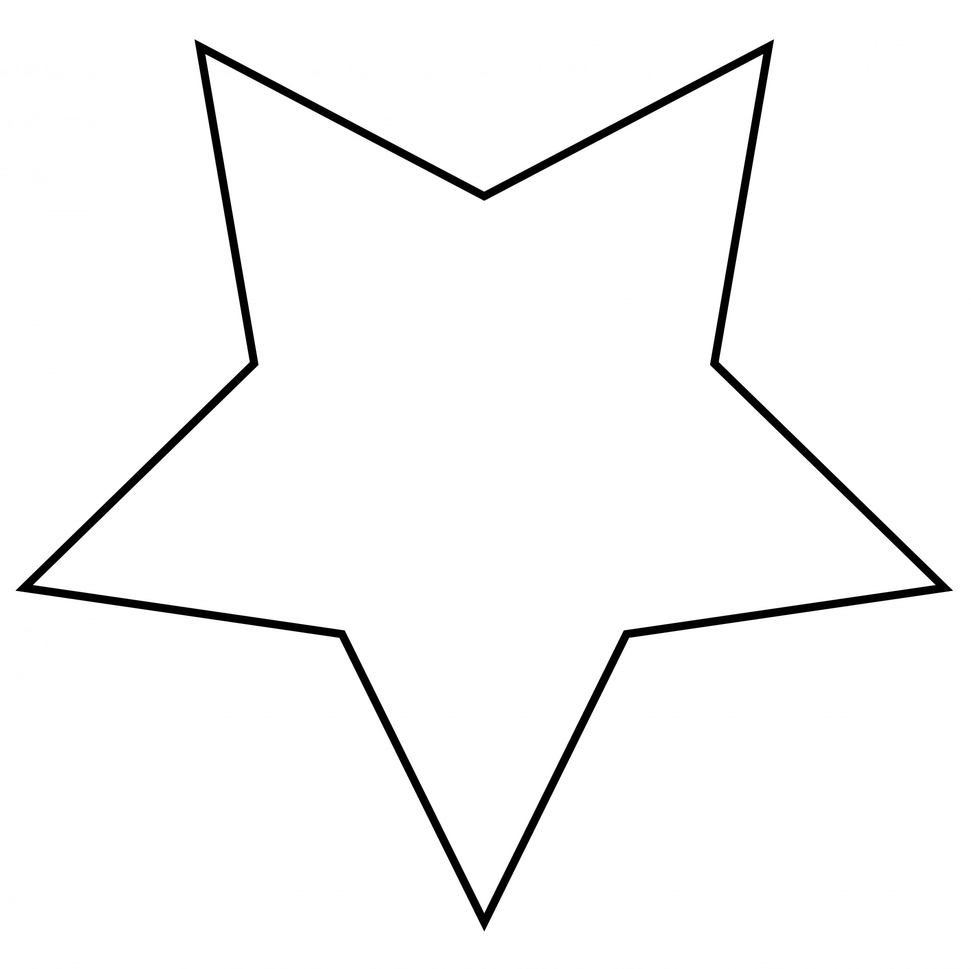 Star free stock photo. Outline clipart