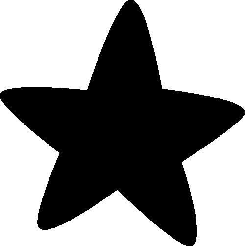 Star clip art. Images black rounded corner