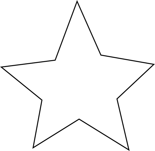 Stars clipart panda free. Star clip art black and white