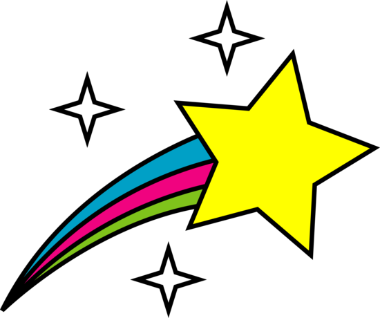 Clipart stars. Shooting black and white