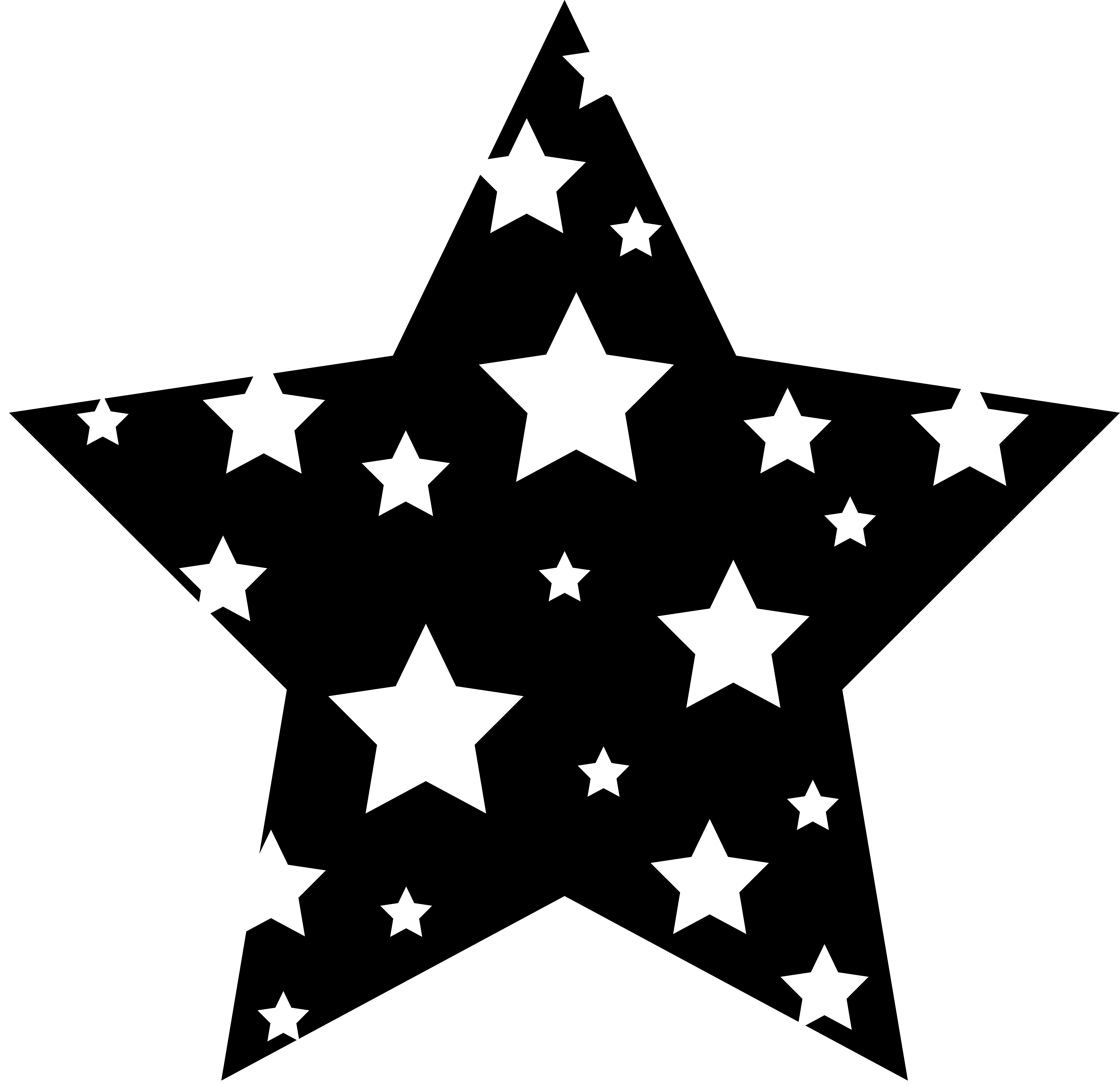 Trout clipart black and white. Star clip art panda