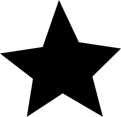 Images. Star clip art black and white