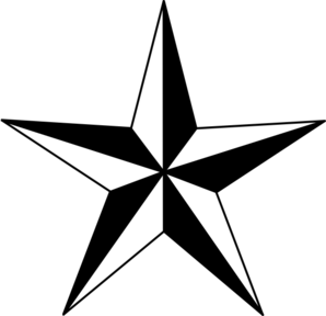 Star clip art black and white. Clipart nautical vector online