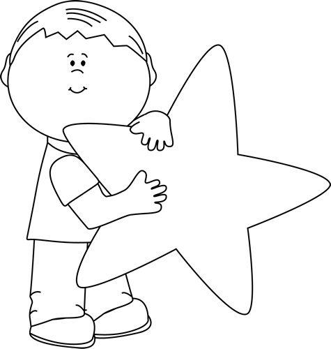 Star clip art black and white. Images boy with a
